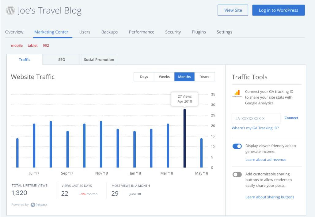 WordPress Pro: Marketing Center - Bluehost
