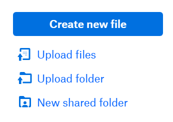 Upload Options