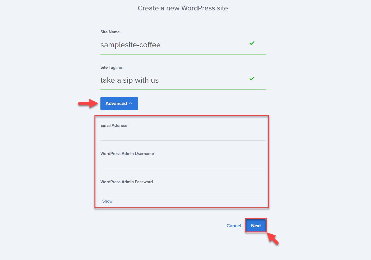 new-wordpress-site-form