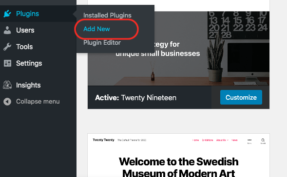 WordPress - Add Plugins