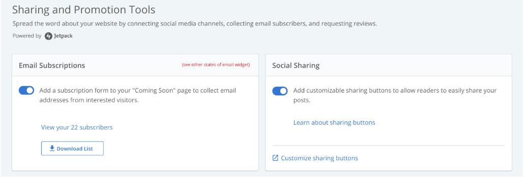 Marketing Center: Email Marketing List