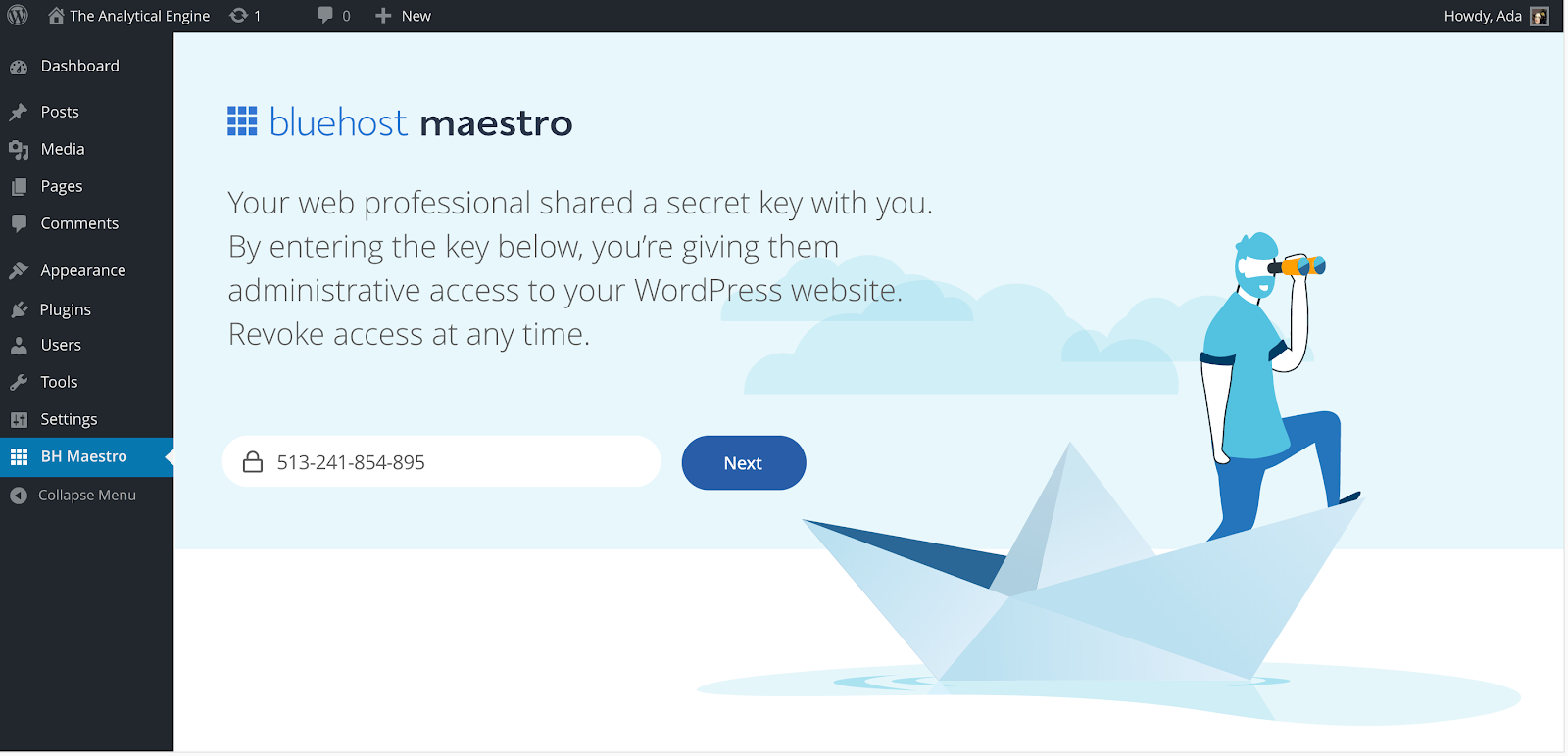 enter-secrete-key-then-click-nex