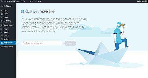 enter-secrete-key