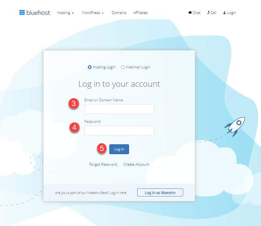 bluehost-loginform