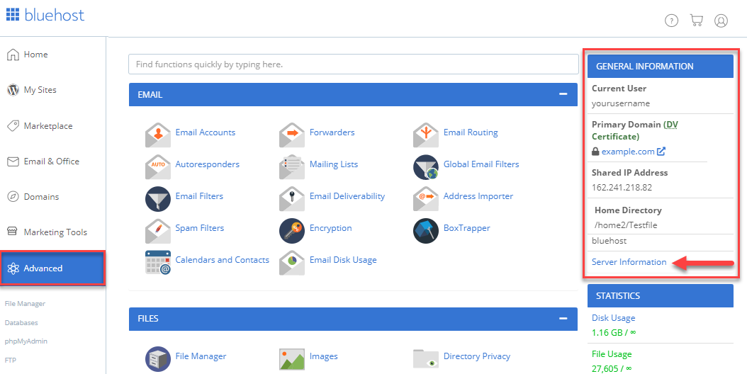 bluehost/img/bluehost/cpanel/cpanel-login/bluehost/rock-advanced-general-information-server-information.png