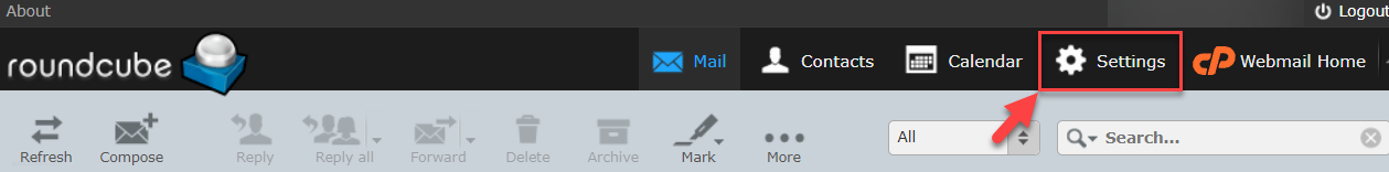 round-cube-email-settings
