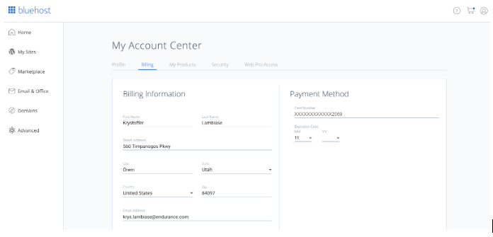 Billing Section
