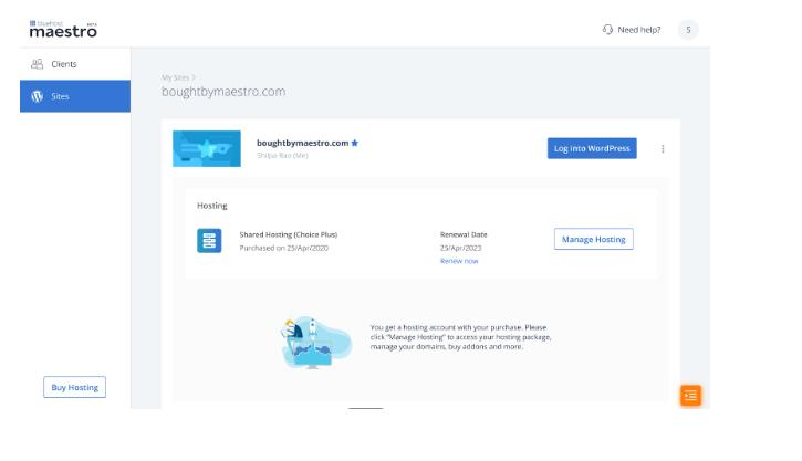 renew hosting