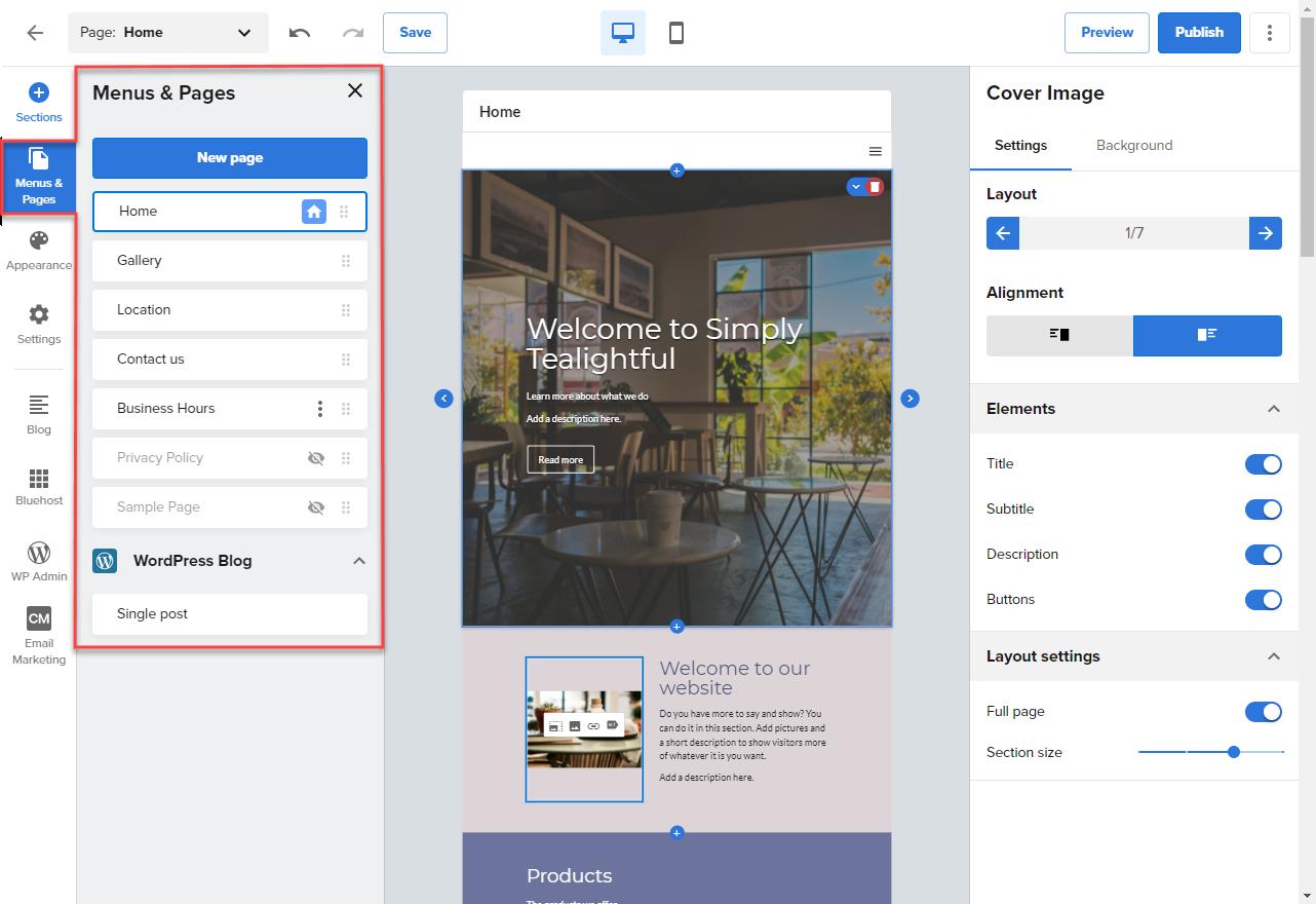 Website-Builder-Manage-Pages