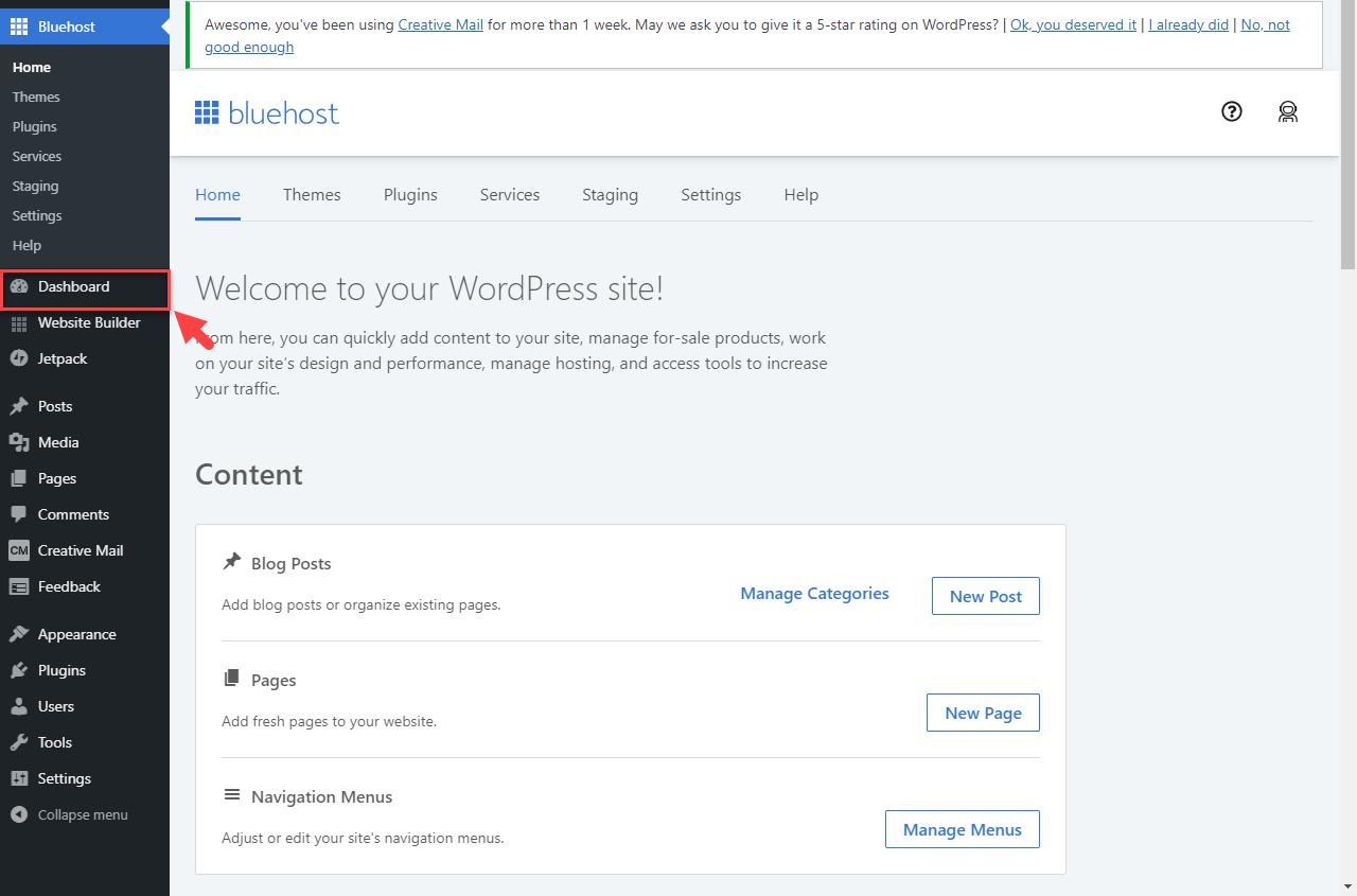 website-builder-wordpress-dashboard