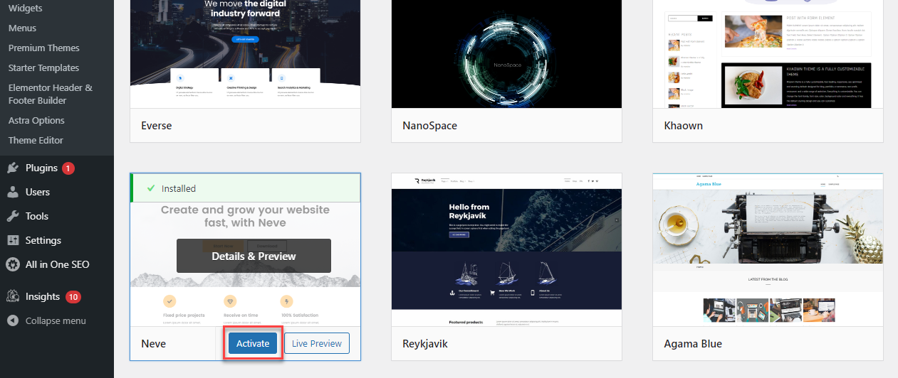 wp-install-activate-new-theme