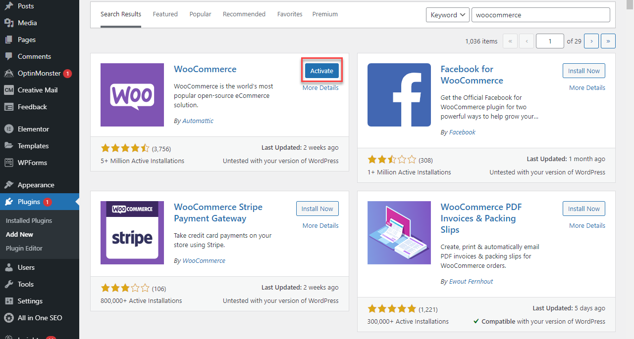 WordPress - Activate Plugins