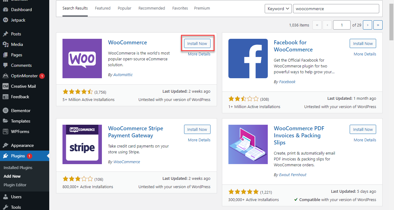 WordPress - Install Plugins
