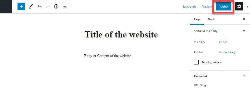 wordpress-publish-page