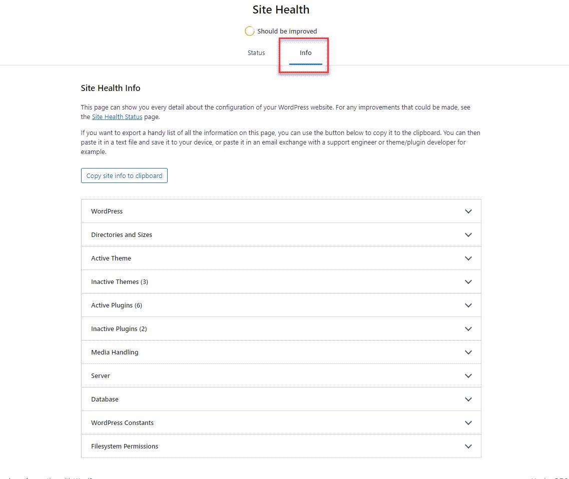 wp-site-health-info