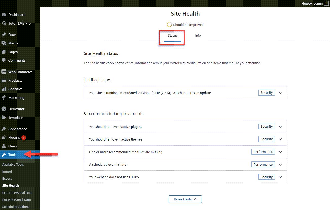 wp-site-health-status