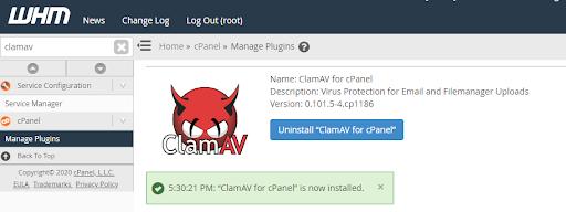 ClamAV Installed